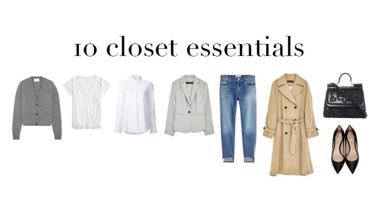 esenciales del closet